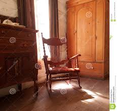 Rocking Chair Old Fashioned Antique Wooden Rocking Chair Stock Photo Image 56919351