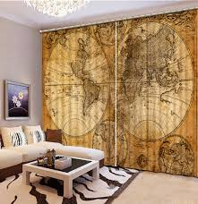 online get cheap luxury livingroom curtains aliexpress com luxury curtains european retro maps blackout 3d livingroom curtains bedroom home decoration china mainland