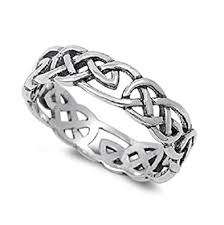 wiccan engagement rings celtic wicca pagan eternity ring sterling silver 925 size x 1 2
