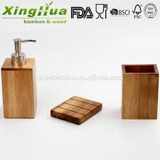 wood bamboo bath accessories bathroom hand foam liquid soap