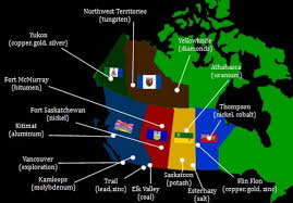Northern Canada Map Mining Clusters In Western And Northern Canada Visual Ly