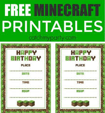 minecraft birthday invitations 58 birthday invitation templates free premium templates