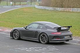 2017 porsche 911 gt3 spied on nurburgring to get 911 r 6 speed