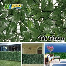 uland artificial plants panels fence plastic foliage hedges green