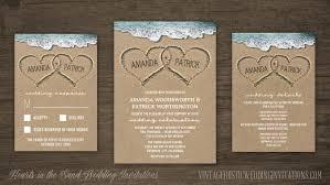 beachy wedding invitations wedding invitations vintage rustic wedding invitations