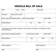 printable vehicle or equipment bill of sale form and template