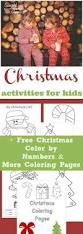 christmas activities for kids free printable christmas color by