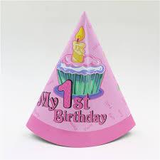 pink baby girls 1st birthday cake candy cap hat girls birtday