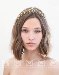 hair crystals rustic gold flower wedding crown brass flower headpiece metal