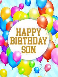 rainbow birthday balloon card for son this birthday card is
