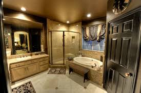 master bathroom ideas choosing the ceramic amaza design appealing contemporary master bathroom ideas applying ceramics flooring furnished with vanity drawers also large mirror and