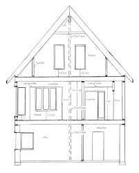 how to draw house cross sections