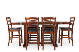 high harvest rustic seven piece pub set mathis brothers furniture