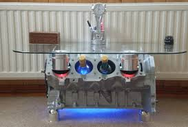 How To Make An Engine Block Coffee Table - 20 times auto parts were repurposed into furniture homecrux