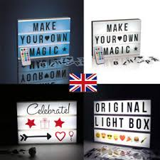 make your own light up sign a4 light up letter box rgb cinematic led sign party plaque decor