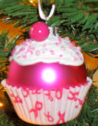 breast cancer christmas ornament cupcake by babybirdcrafts on etsy