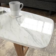 faux marble coffee table harvey park coffee table 414978 sauder
