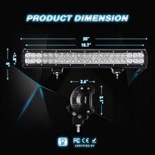 Discount Led Light Bars by Amazon Com Led Light Bar Nilight 20 Inch 126w Led Work Light Spot