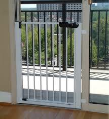 Patio Door Gate Gates Lock N Block Sliding Door Gate White