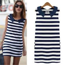 discount denim sailor dress 2017 denim sailor dress on sale at