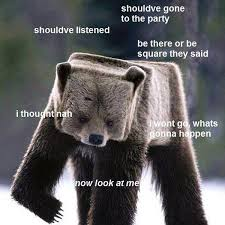 Running Bear Meme - marc hepburn on twitter be there or be square bear square