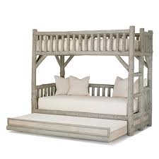 Bunk Bed Trundle Bed Rustic Bunk Bed With Trundle La Lune Collection