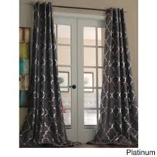 Grey And White Curtain Panels Decorating Ideas Interesting Picture Of Dark Grey Pattern Drapes