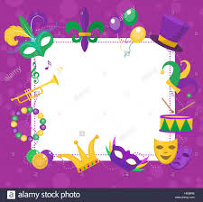 mardi gras frame mardi gras frame template with space for text carnival poster stock