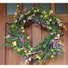 Spring Door Wreaths | amazon com canterbury spring door wreath 24 inch home kitchen