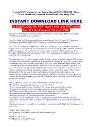 hyundai h1 workshop service repair manual 2000 2003 1 700 pages 29 u2026