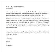 letter of recommendation format sample