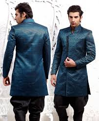 indian wedding dress for men with hand work embroidery groom