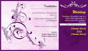 marriage invitation card format festival tech