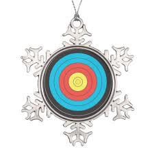 archery target design gifts and products snowflake pewter
