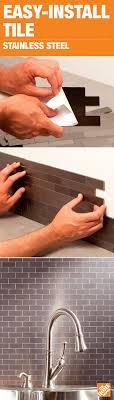 kitchen backsplash stainless steel best 25 stainless steel backsplash tiles ideas on