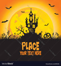 halloween castle royalty free vector image vectorstock