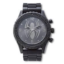 men u0027s marvel spider man analog watch black target