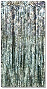 rideau argent franges m礬talliques 3 x 8 lumi礙re magique