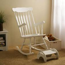 furniture charming white nursery rocking chair with ottoman and