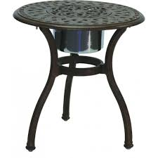exterior oval metal patio table with black finish patio fire pit