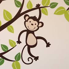 personalised monkey tree wall stickers by parkins interiors personalised monkey tree wall stickers