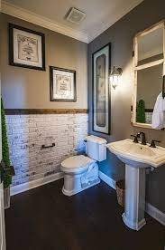 bathroom wall decorating ideas small bathrooms impressive vanity also toilet again rustic brick wall for