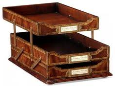 Mahogany Desk Accessories Stack Style Wood Desk Organizers Letter Tray Mahogany From