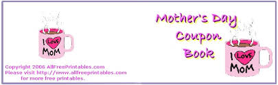 mothers day books s day printables s day cards coupon books and