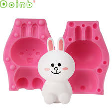 bunny mold 3d rabbit silicone mold bunny cake decorating mousse candy