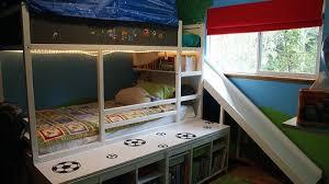Bunk Bed With Slide Ikea Kura Bed With Slide Ikea Hackers