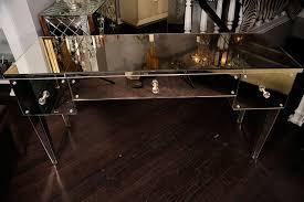 Flip Top Vanity Table Custom Mirrored Flip Top Vanity Desk For Sale At 1stdibs