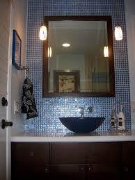 blue glass vessel sink casafina bathroom modern with beach inspired blue glass vessel sink