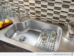 Double Sinks Kitchen by Alumunium Plat Materials For Wash Plate Area At Th Emodern Design