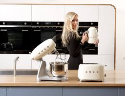 collection of new smeg small appliances cream toaster kettle and